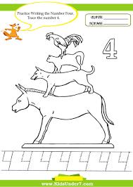 Number 2 Worksheet Kids Under 7 Number Tracing 1 10 U2013 Worksheet Part 2