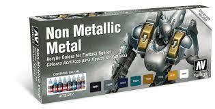non metallic metal game color paint set vallejo