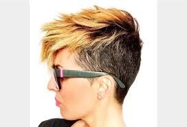coupe pour cheveux pais coiffure pour cheveux épais femme coupe du pixie à deux tons