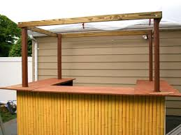 How To Build A Pergola Roof by How To Build A Tiki Bar How Tos Diy