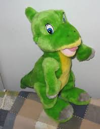 toy network land ducky plush dinosaur green yellow 13