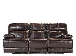 solaris leather power reclining sofa brown raymour u0026 flanigan