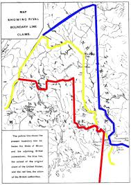 Red Line Map Aroostook War Wikipedia