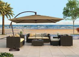 Patio Table And Umbrella Patio Ideas Large Cantilever Patio Umbrella With Brown Umbrella