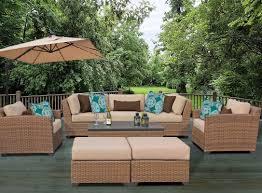 tk classics laguna 8 piece rattan conversation set with cushion