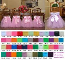 cheap sashes for chairs 2016 tutu chair skirts in stock white pink violet tulle chair