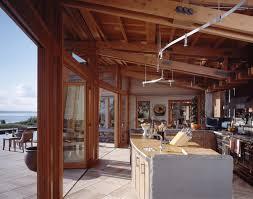 indoor outdoor kitchen with a major view seattle krannitz gehl
