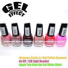 amazon com santee 6 gel effect shine nail polish no uv led light