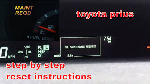2012 toyota maintenance light reset 2012 toyota prius maintenance required light reset