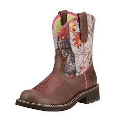 womens cowboy boots for sale ariat womens fatbaby hotleaf toe cowboy boots brown