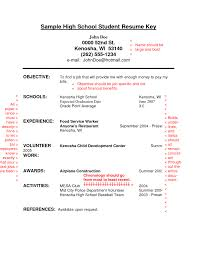 Resume Examples For College Applications Resume Sample For High Students With No Experience Http