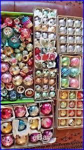150 huge lot vintage antique glass christmas ornaments usa poland