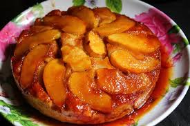 apple upside down cake recipe eggless u0026 low fat yummy tummy