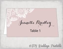 wedding place card template blush pink diy wedding name cards