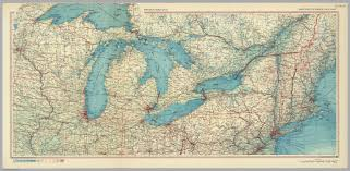 Map Of Great Lakes United States Of America Great Lakes Pergamon World Atlas