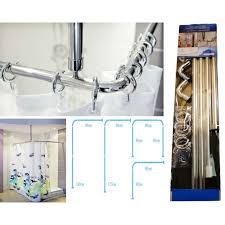 shower curtain rail rod 4 way use l or u shape ceiling curtain railsopen ringshower