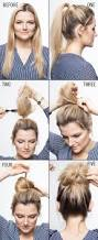 How To Make Easy Hairstyles At Home by Easy Top Knot Tutorials For The Perfect Fall Hairstyle