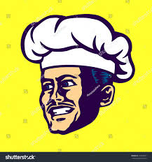 Vector Chef Face Cook Hat Mustache Stock Vector 414070501