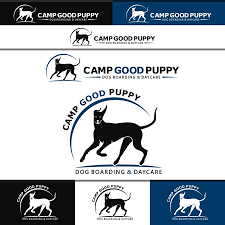 Create a friendly logo for a Dog Boarding and Daycare business