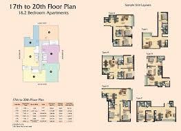 Floor Plan Business Clayton Residency Floor Plans Business Bay Dubai