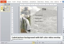 free powerpoint template with amazing waterfall video background