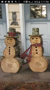 Frosty The Snowman Outdoor Decoration The 25 Best Log Snowman Ideas On Pinterest Logs Ideas Log