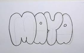 bubble letters how to draw maya