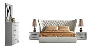 miami modern bedroom set in carmen white free shipping get