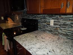 Rock Backsplash Kitchen by Kitchen Blue And White Backsplash River Rock Flooring Kitchen