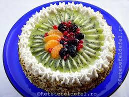 tort cu frisca si fructe un tort delicios insiropat cu un sirop
