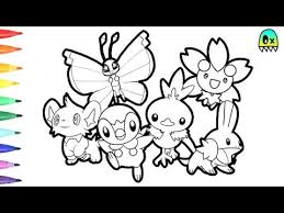 pokemon coloring pages torchic friends colouring book fun