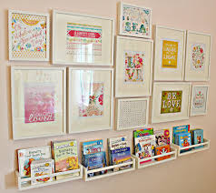 sweet kids room with salon style wall decoration alternative