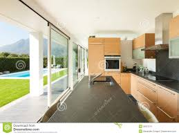 modern villa beautiful interiors royalty free stock images