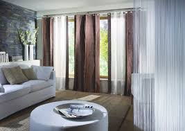 Chocolate Brown And Blue Curtains Chocolate And Blue Curtains Soft Gray Flooring Plain White Wall