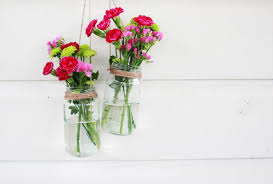 jar flowers oh my drifter diy hanging jar flower display oh my drifter