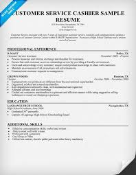 Customer Service Example Resume by Cashier Resumes Ilivearticles Info