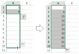 how to use autofill in excel 2010 2013 u2013 all fill handle options