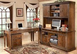Large L Desk Star Furniture Hamlyn Large L Shaped Desk W Large Hutch U0026 Credenza