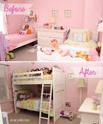 Bunk Bed Decorating Ideas Bedroom Pink Bunk Bedroom Makeover Ideas From Single