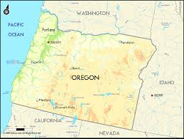 map of oregon united states geographical map of oregon and maps lively united states portland