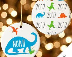 Outdoor Christmas Decorations Dinosaur by Dinosaur Ornament Etsy
