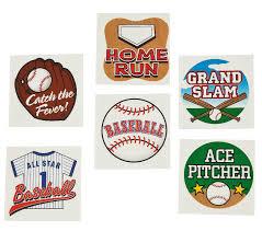 amazon com fun express temporary baseball tattoos 6 dozen toys