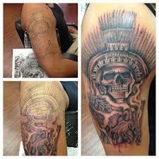 23 best skull aztec tattoo designs images on pinterest shoulder