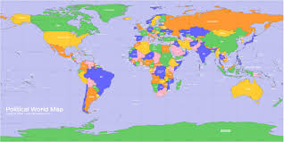 world maps world political map countries cities