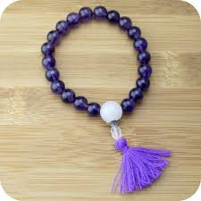 beads bracelet images Amethyst mala beads bracelet with rose quartz meditative wisdom jpg