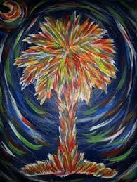 palm trees of many colors painting my art pinterest color