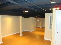 exposed basement ceiling ideas blue exposed basement ceiling