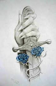 roses and sword tattoos sketch photos pictures and sketches