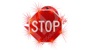 stop sign with led lights solar stop sign 7 png