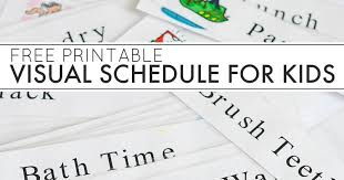 printable evening schedule free printable daily visual schedule and next comes l